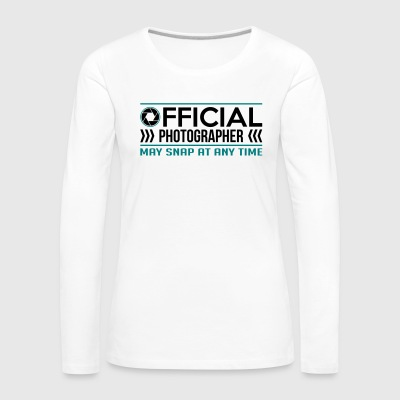 Official Photographer Funny - funny - Women's Premium Longsleeve Shirt