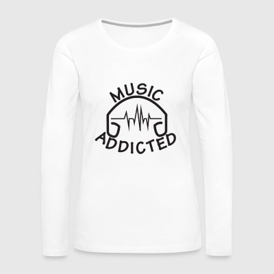 MUSIC_ADDICTED-2 - T-shirt manches longues Premium Femme