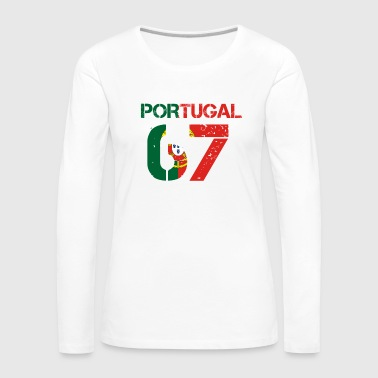 Fussball verein team party em wm PORTUGAL 67 - Frauen Premium Langarmshirt