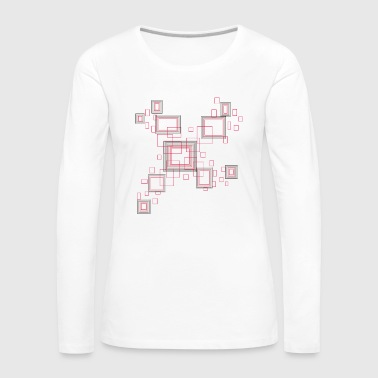 windows - rectangle and square in red and black - Women's Premium Longsleeve Shirt