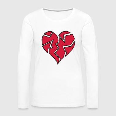 Flickering Broken Heart <3 - Women's Premium Longsleeve Shirt