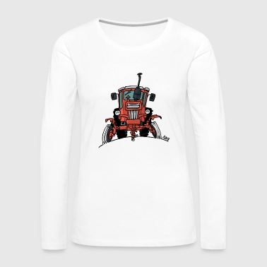 512 Old red tractor - Women's Premium Longsleeve Shirt