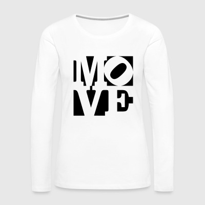 move Homage to Robert Indiana move black outside - Women's Premium Longsleeve Shirt