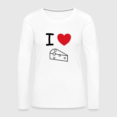 I love cheese milk gift idea - Women's Premium Longsleeve Shirt