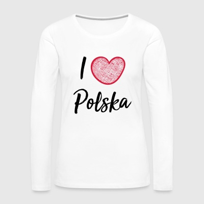 I love Poland - Women's Premium Longsleeve Shirt