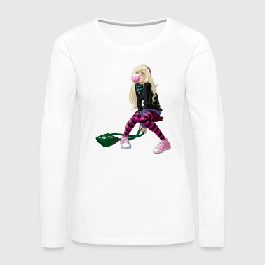 comic girl - Women's Premium Longsleeve Shirt
