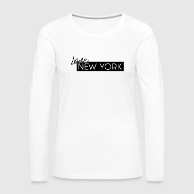 NEW YORK Love av HermzCollection - Premium langermet T-skjorte for kvinner