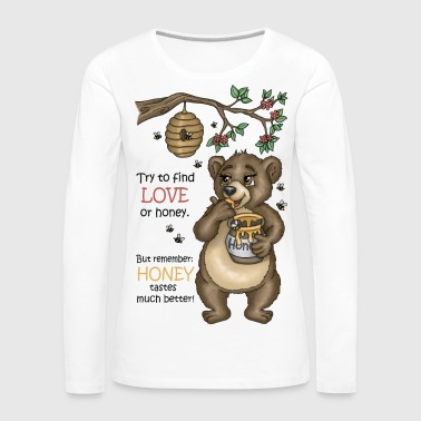 Brown Bear Uncle Samson Version 3 - Långärmad premium-T-shirt dam