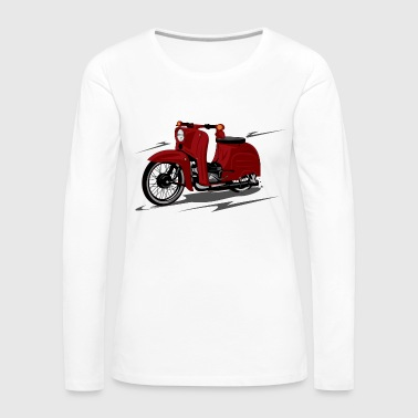 scooter rouge - T-shirt manches longues Premium Femme