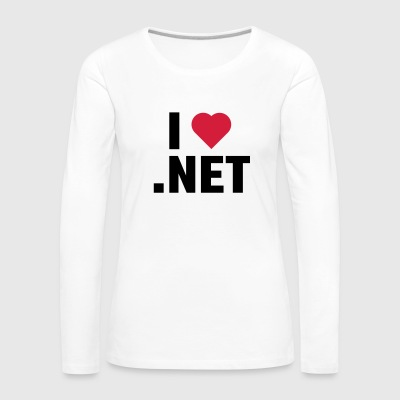 I Love. NET - Women's Premium Longsleeve Shirt