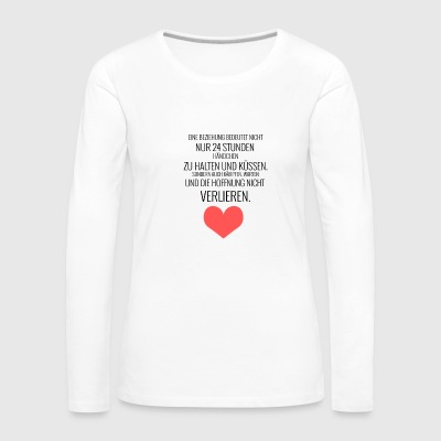 A relationship with another human being ... - Women's Premium Longsleeve Shirt