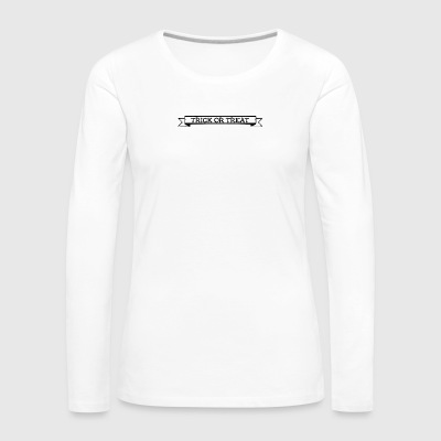 Trick or Threat - Frauen Premium Langarmshirt