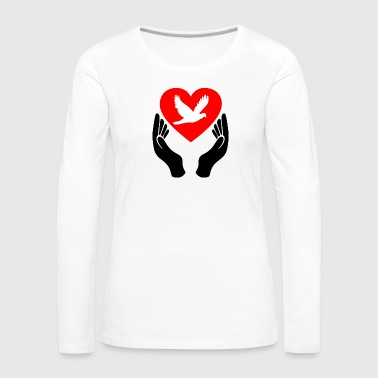 Peace Dove Heart - Women's Premium Longsleeve Shirt