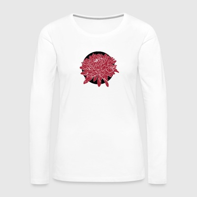 Red flower - Women's Premium Longsleeve Shirt