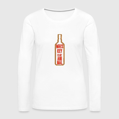 Whisky - El whisky es mi animal - Camiseta de manga larga premium mujer