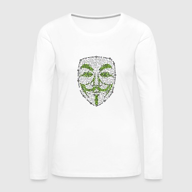Digital Anonym Version 01 - Dame premium T-shirt med lange ærmer
