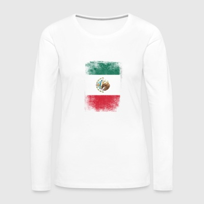 Mexico Flag Proud Mexican Vintage Distressed - Women's Premium Longsleeve Shirt