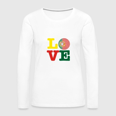 PORTUGAL HEART - Women's Premium Longsleeve Shirt