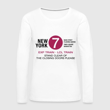 New York City Subway 7 Manhattan Queens NYC - T-shirt manches longues Premium Femme