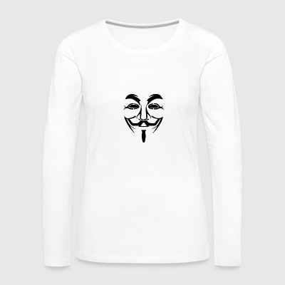 Anonymous Mask PNG Picture - Women's Premium Longsleeve Shirt