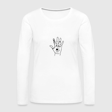 hand with symbols - Women's Premium Longsleeve Shirt