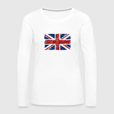 Union Jack - UK - Vintage Look  - Women's Premium Longsleeve Shirt