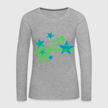 Westensports with Tribal and stars - Women's Premium Longsleeve Shirt