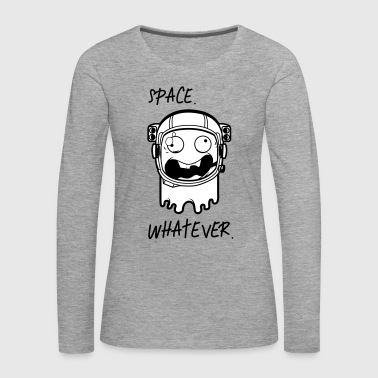 Astronaut Space whatever - Premium langermet T-skjorte for kvinner