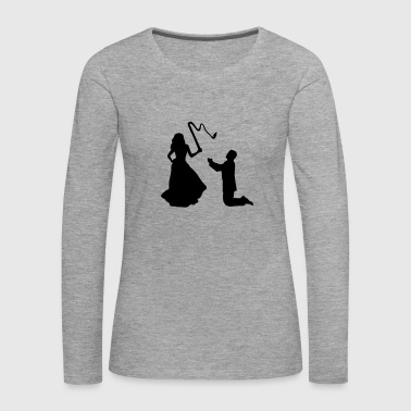 Woman & Whip, Bride & Groom - Camiseta de manga larga premium mujer