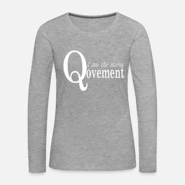 Movement Q-Anon Movement Presentidé - Långärmad premium-T-shirt dam