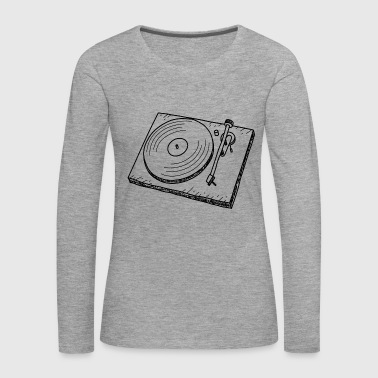 Turntable DJ Retro Music - Långärmad premium-T-shirt dam