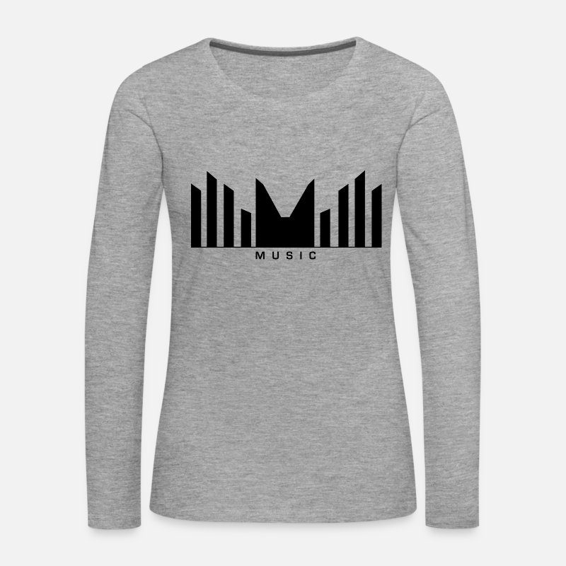 Soundwave Long Sleeve Shirts - Music Logo Sound bars - Women's Premium Longsleeve Shirt heather grey