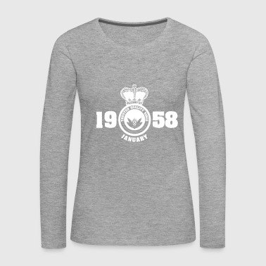 Birthday January 1958 - Women's Premium Longsleeve Shirt