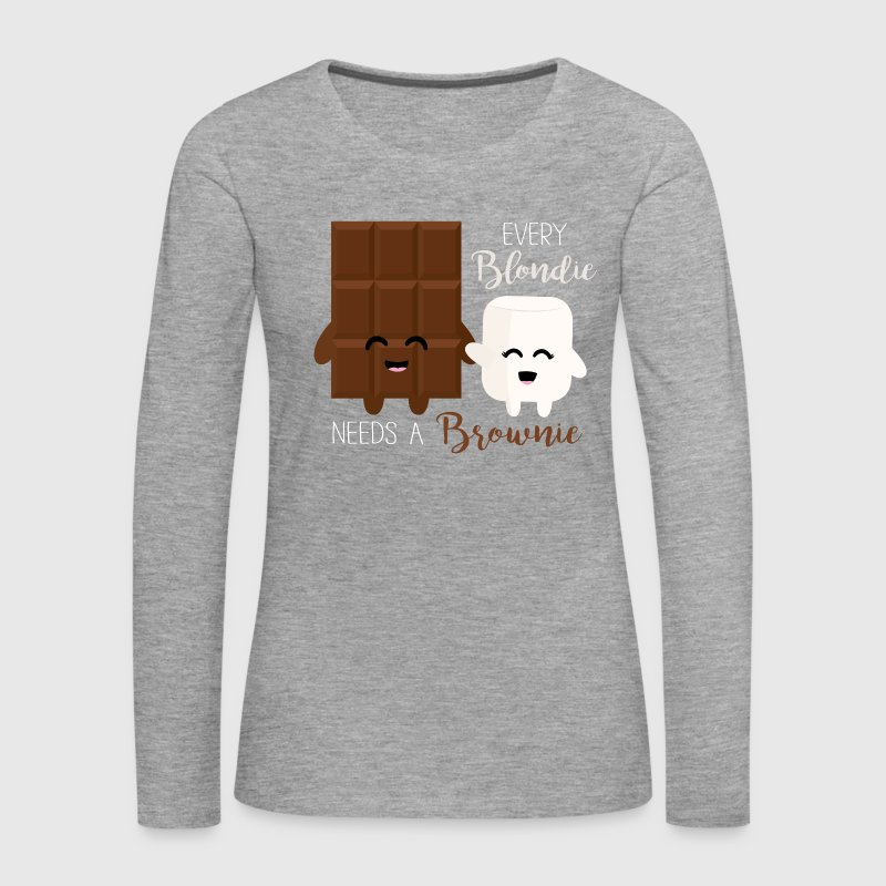 Blondie - Brownie - Frauen Premium Langarmshirt