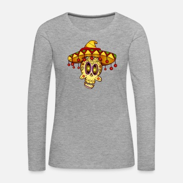 Mexico Day Of The Dead Day of the Dead Mexico skull La Catrina gift - Women's Premium Longsleeve Shirt
