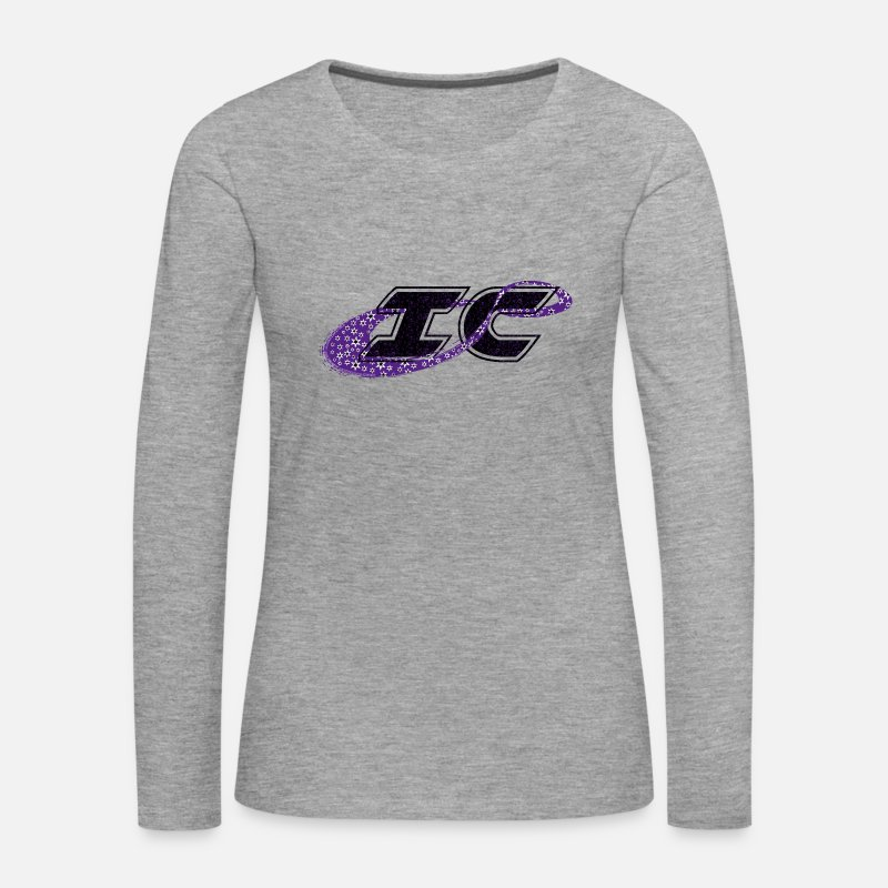 Cheerleader Long Sleeve Shirts - the logo of the Infinity Cheer Innovations - Women's Premium Longsleeve Shirt heather grey