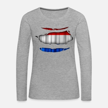 Torn Netherlands flag torn 017 - Women's Premium Longsleeve Shirt