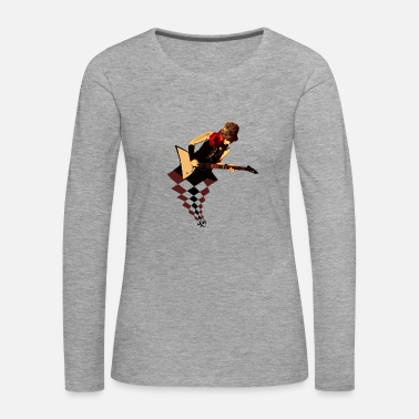 The woman on the guitar - Women's Premium Longsleeve Shirt