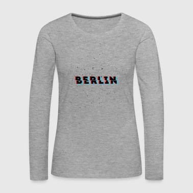 Berlin Glitch Dust Design - Frauen Premium Langarmshirt