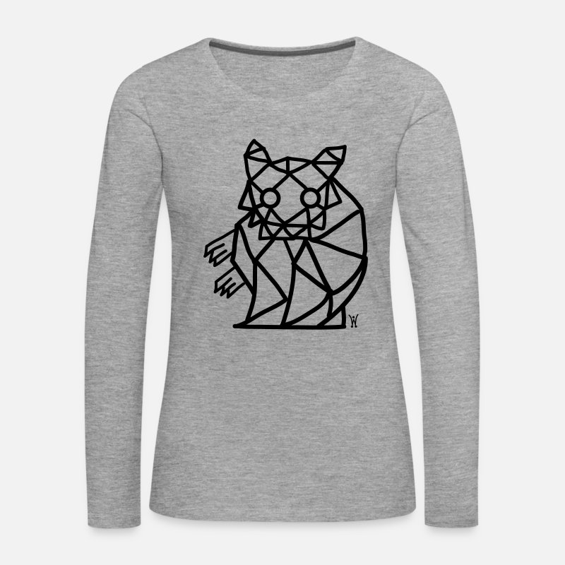 Hamster Long Sleeve Shirts - Hamster geometric Hamster - Women's Premium Longsleeve Shirt heather grey
