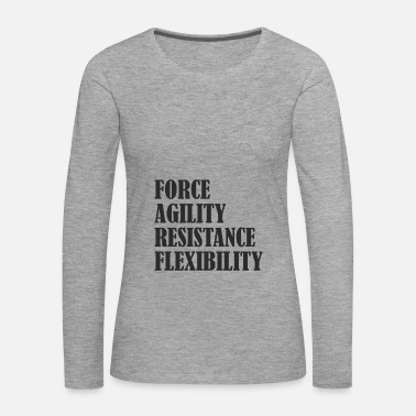 Gym motivation meta fitness - Women's Premium Longsleeve Shirt