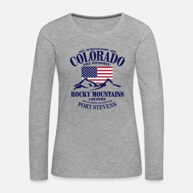 Ski Resort Colorado Ski Resort - United States - Långärmad premium-T-shirt dam