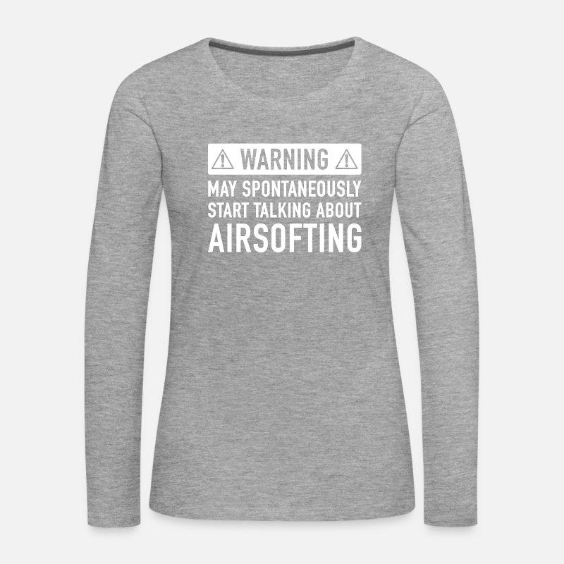 Airsoft Long Sleeve Shirts - Funny Airsoft Gift Idea - Women's Premium Longsleeve Shirt heather grey