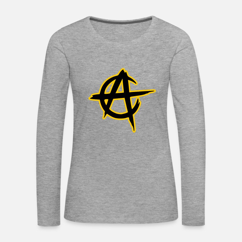 Anarchism Long Sleeve Shirts - anarcho capitalism - Women's Premium Longsleeve Shirt heather grey