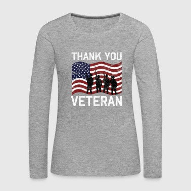 Veterans Day - Thank You Veteran - Frauen Premium Langarmshirt