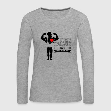 Tiny Calves Big Heart - Powerlifting Fun - Black - Premium langermet T-skjorte for kvinner