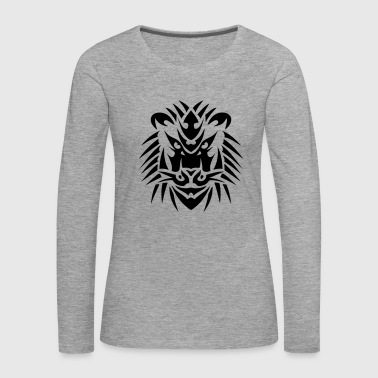 lion tribal tete tattoo 19093 - T-shirt manches longues Premium Femme