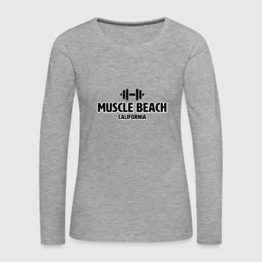 Muscle Beach California - Långärmad premium-T-shirt dam