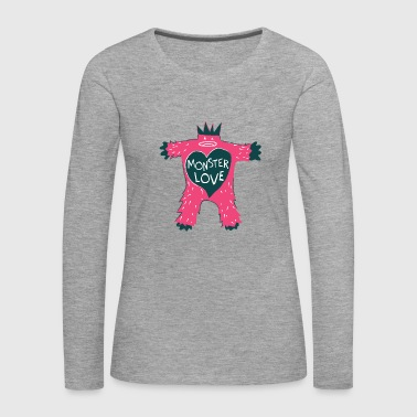 Monster of Love - Vrouwen Premium shirt met lange mouwen