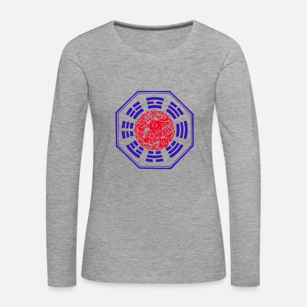 57d43379473b Asie Manches longues - Ecuisson - T-shirt manches longues premium Femme  gris chiné